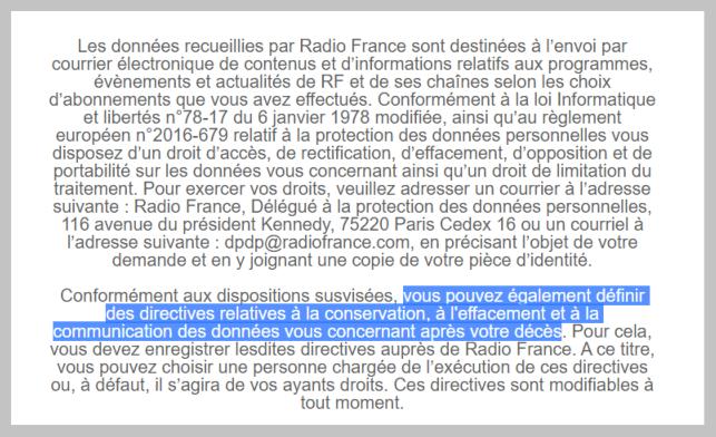 Newsletter Radio France