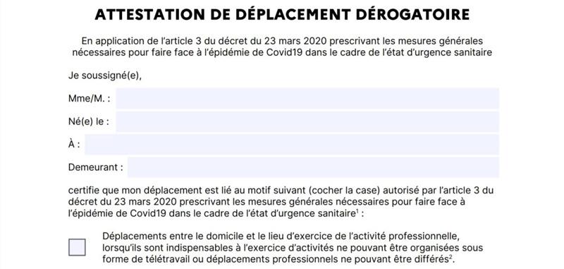 Covid-19 : l'attestation de déplacement sur smartphone à partir du lundi 6 avril - BDM